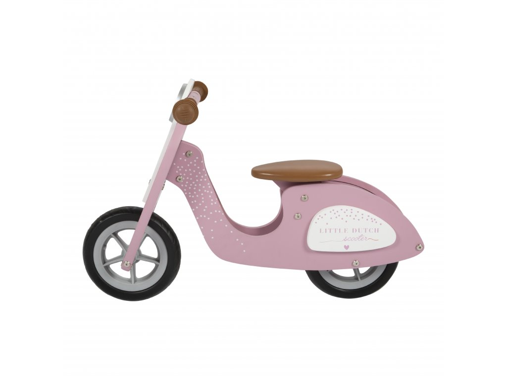 4373 wooden scooter pink 1