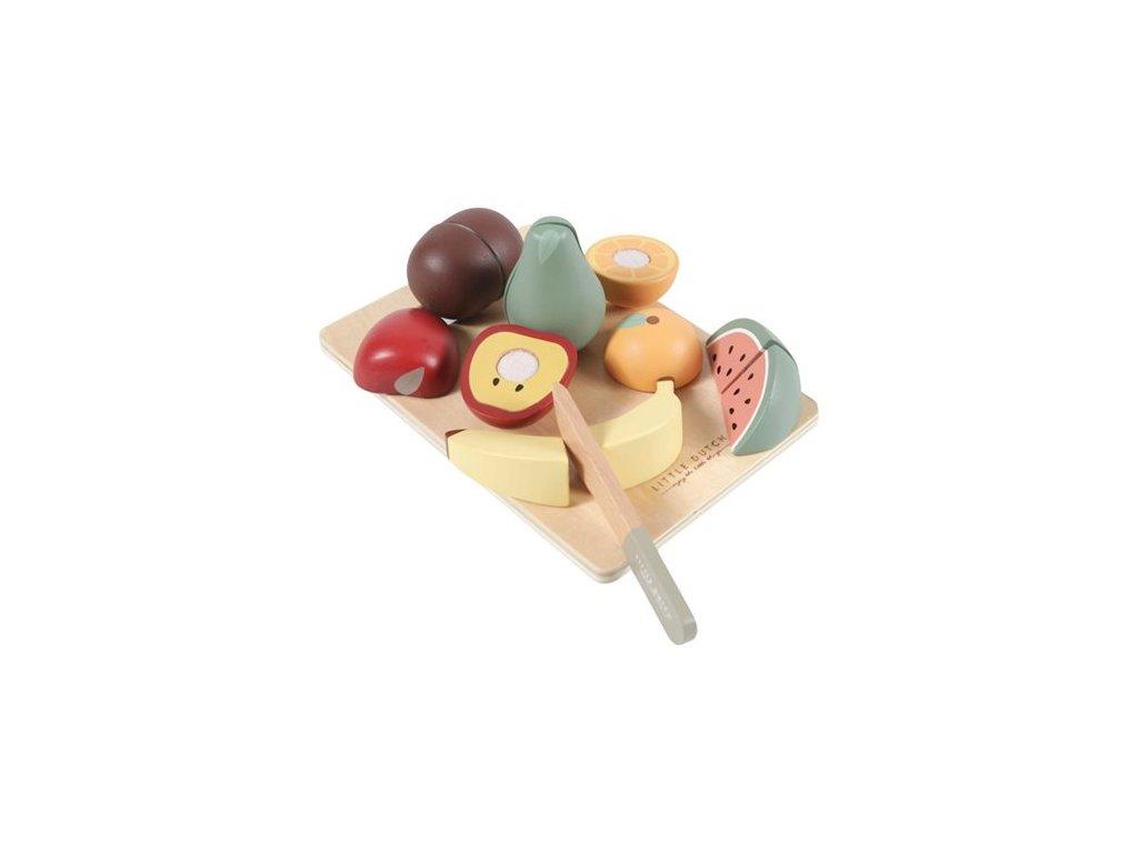0010377 houten snijset fruit 500
