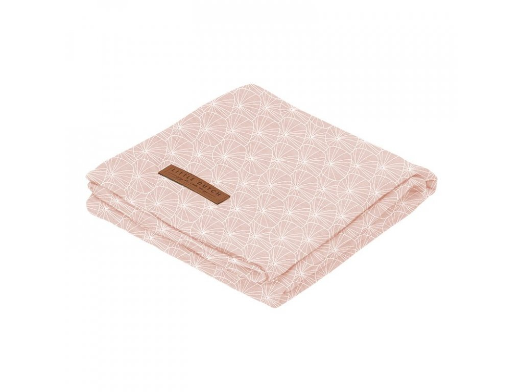 0009036 swaddle doek 120 x 120 lily leaves pink