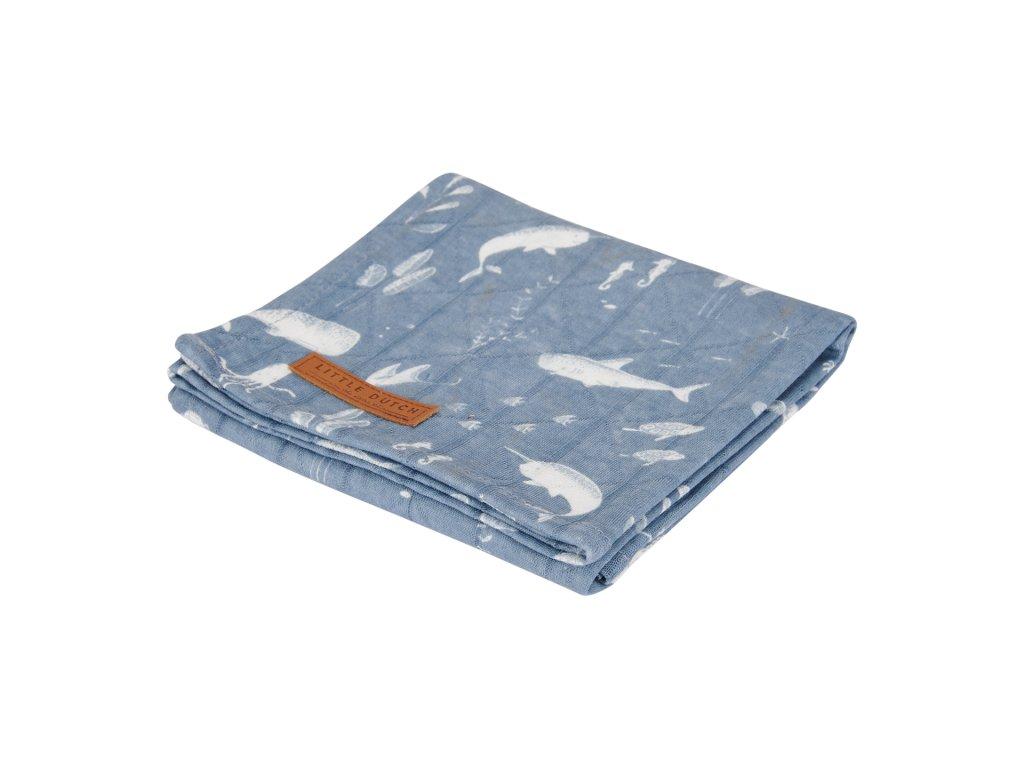 0003092 little dutch swaddle doek 120 x 120 ocean blue 0.jpg