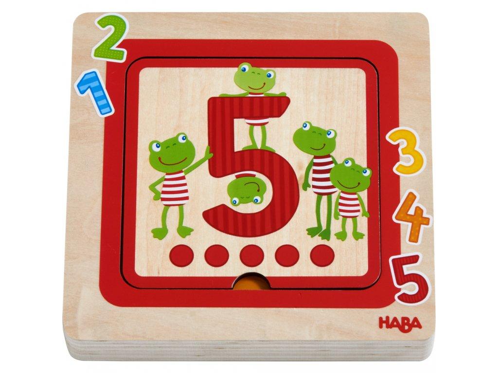 Haba Drevené puzzle - počítanie
