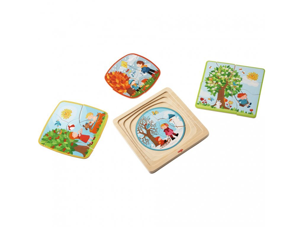 Haba Drevené puzzle - 4 ročné obdobia
