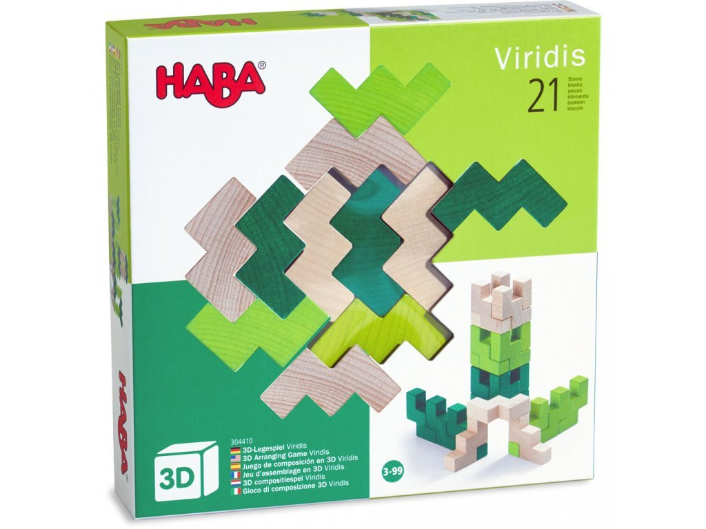 Haba Drevená 3D aranžovacia mozaika Viridis