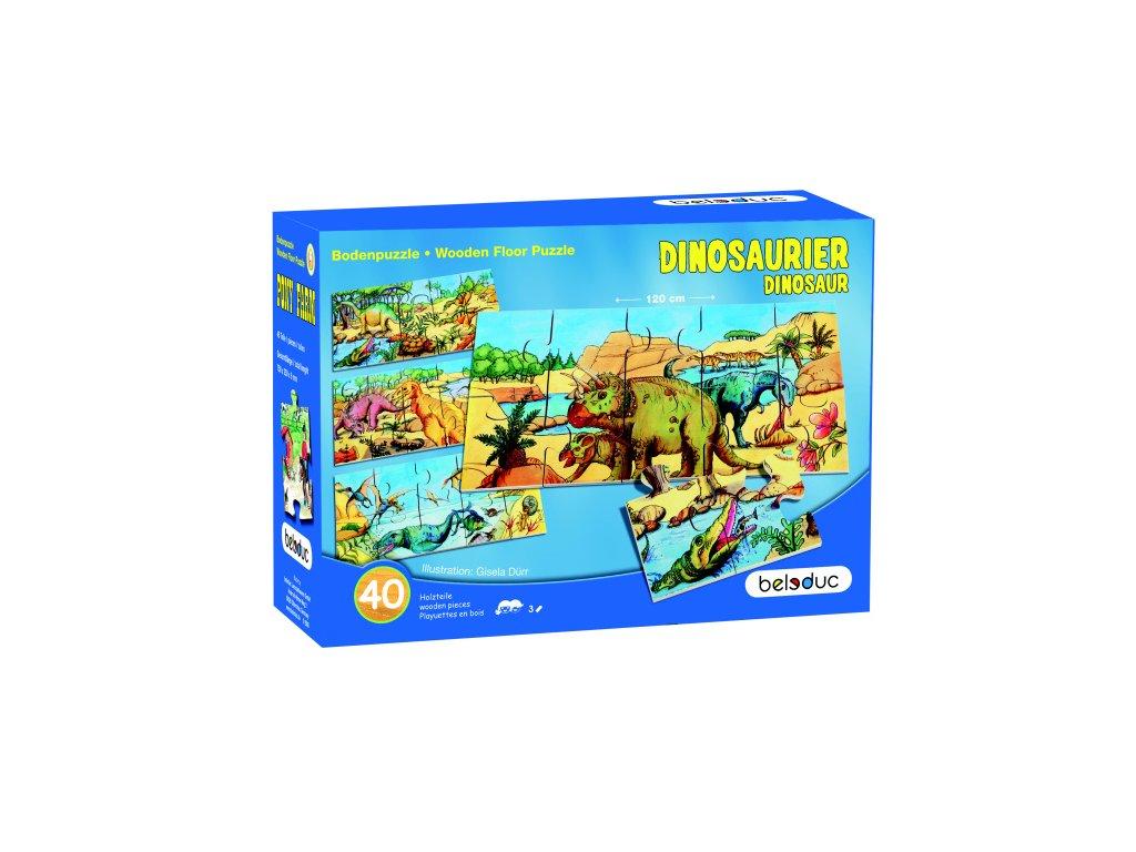 Beleduc Podlahové XXL puzzle DINOSAURI