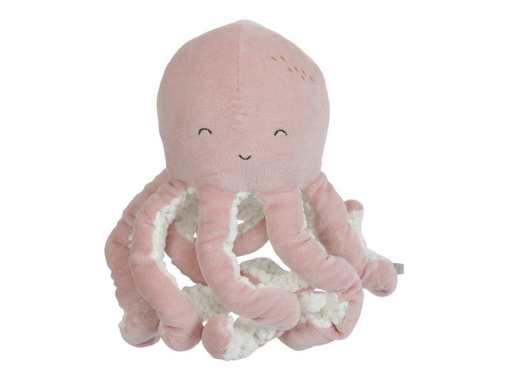 Little Dutch Malá plyšová chobotnička ocean pink
