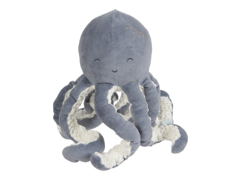 Little Dutch Malá plyšová chobotnička ocean blue