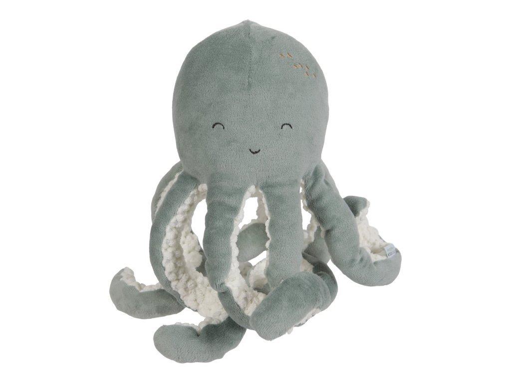 Little Dutch Malá plyšová chobotnička ocean mint