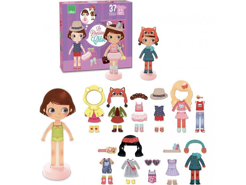 Vilac Drevená oblékací bábika Chloe