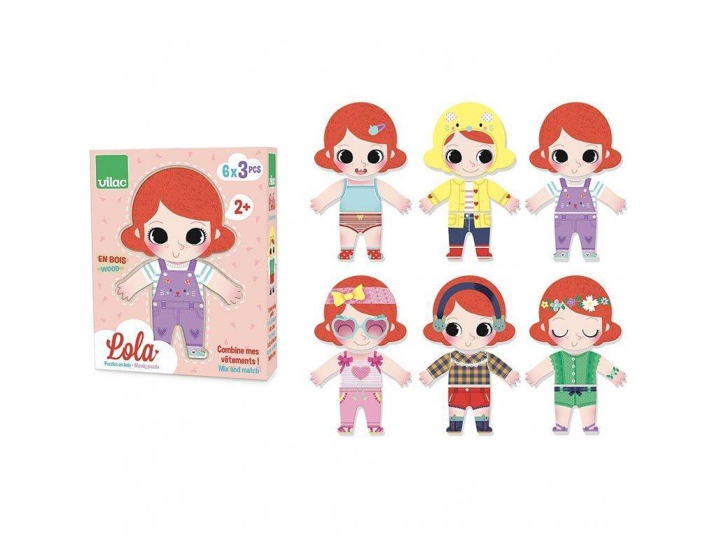 Vilac Drevené oblékací puzzle Lola