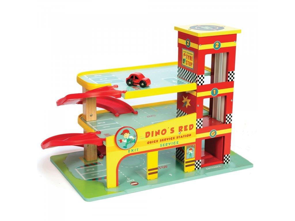 Le toy Van Drevená garáž Dino
