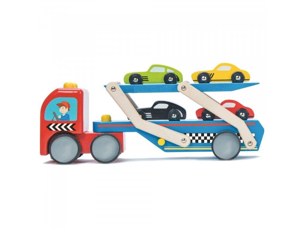 Le toy Van Drevený ťahač s autíčkami