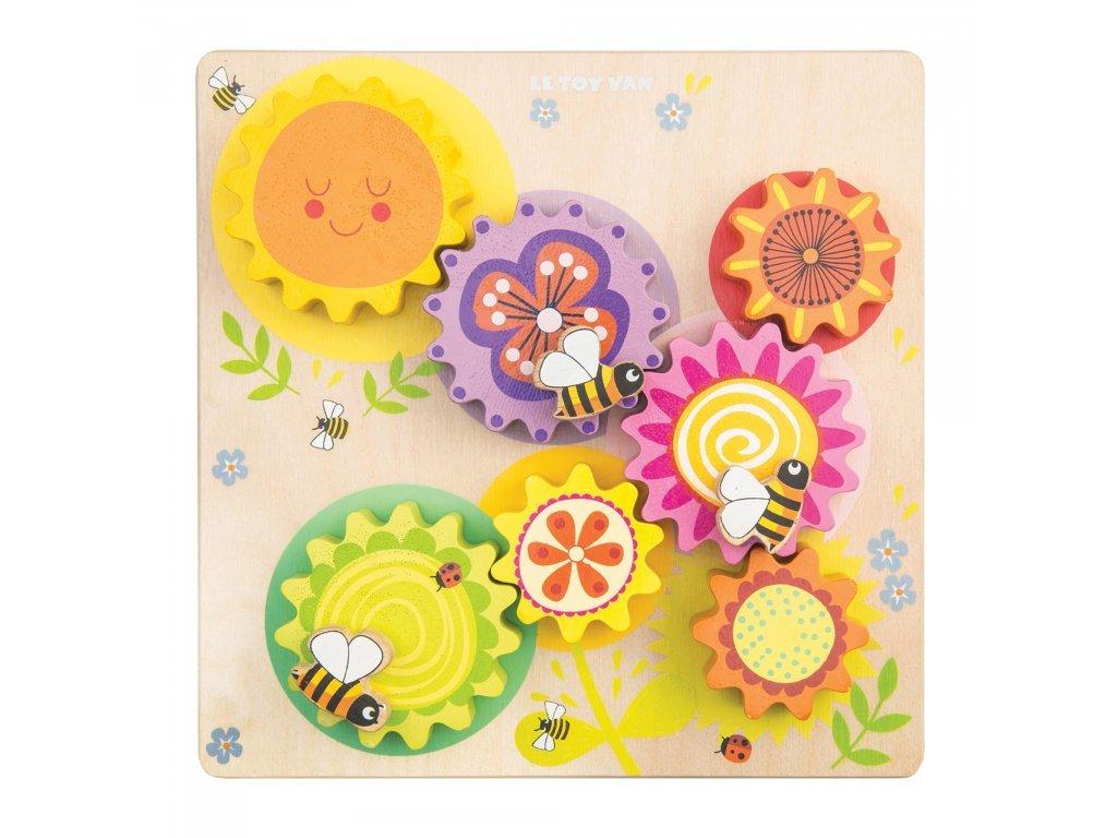 Le Toy Van päťročné Ozubené kolesá včielka