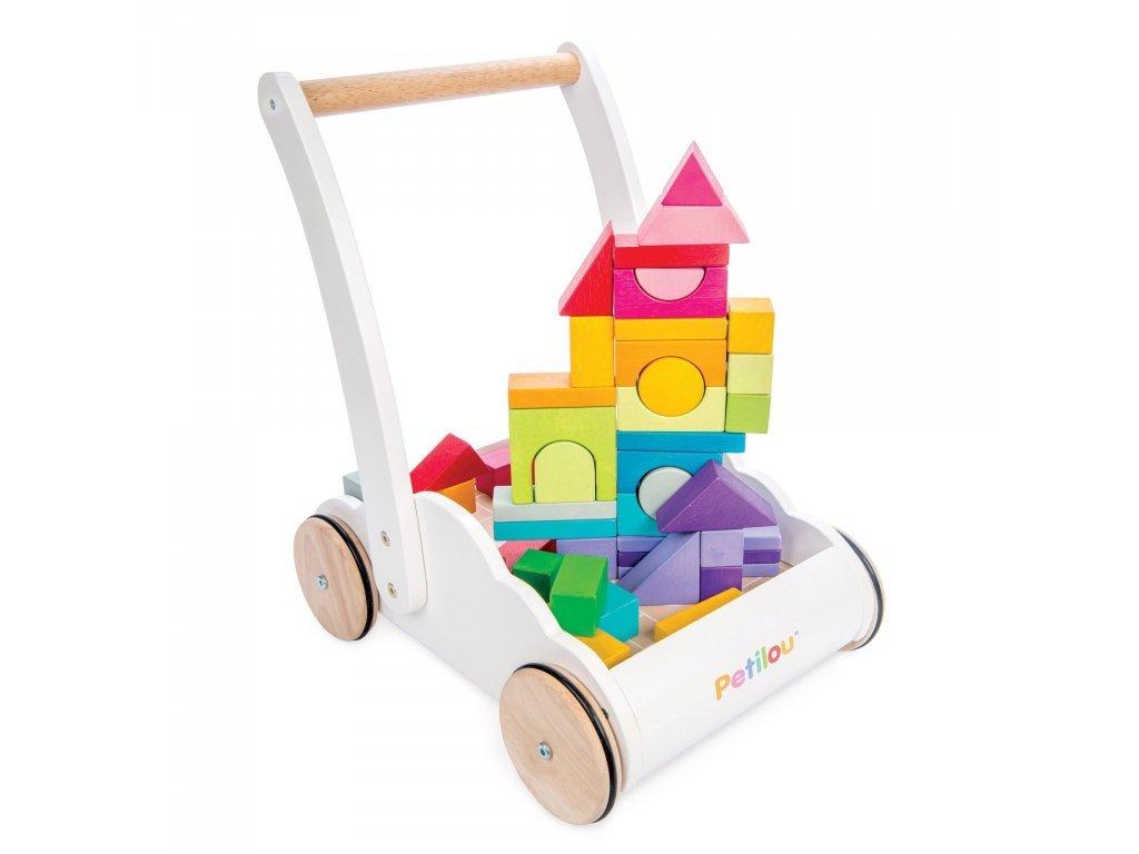 Le Toy Van päťročné Vozík s dúhovými kockami
