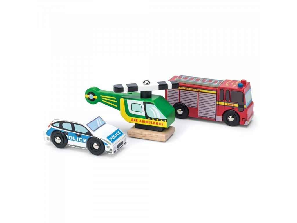 Le Toy Van Set autíčok Záchranári