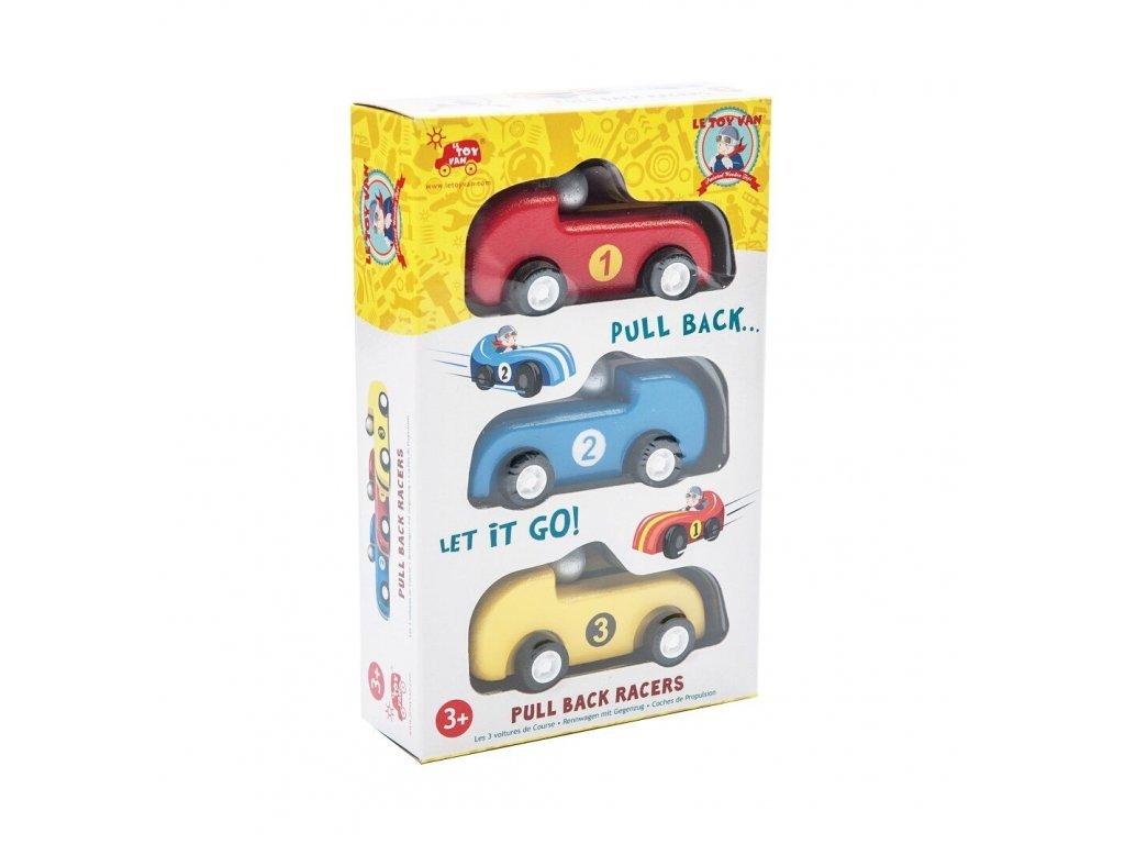 Le Toy Van Set závodných áut pullback