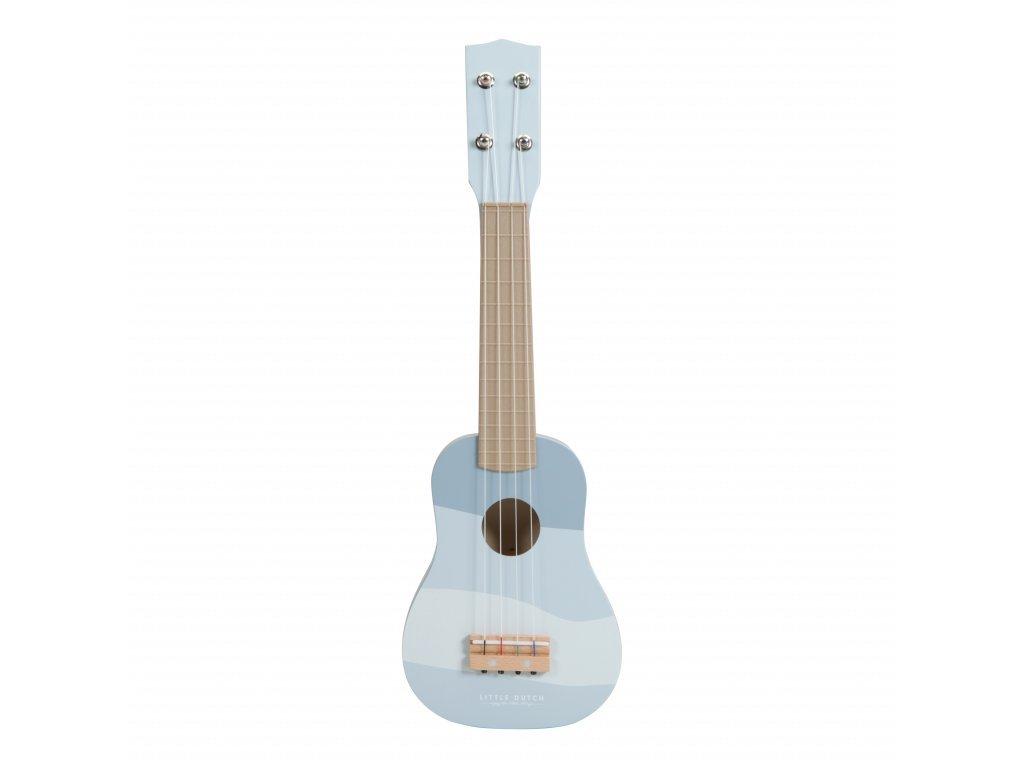 Little Dutch Drevená gitara - blue
