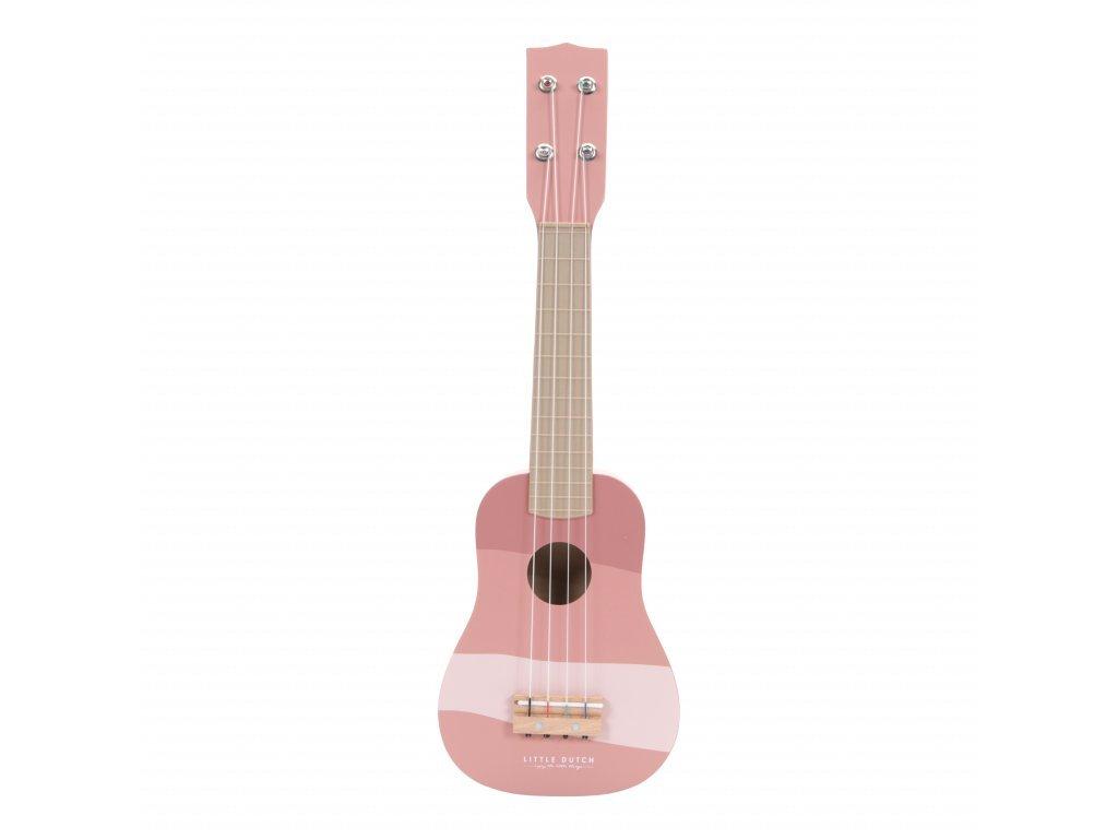 Little Dutch Drevená gitara - pink