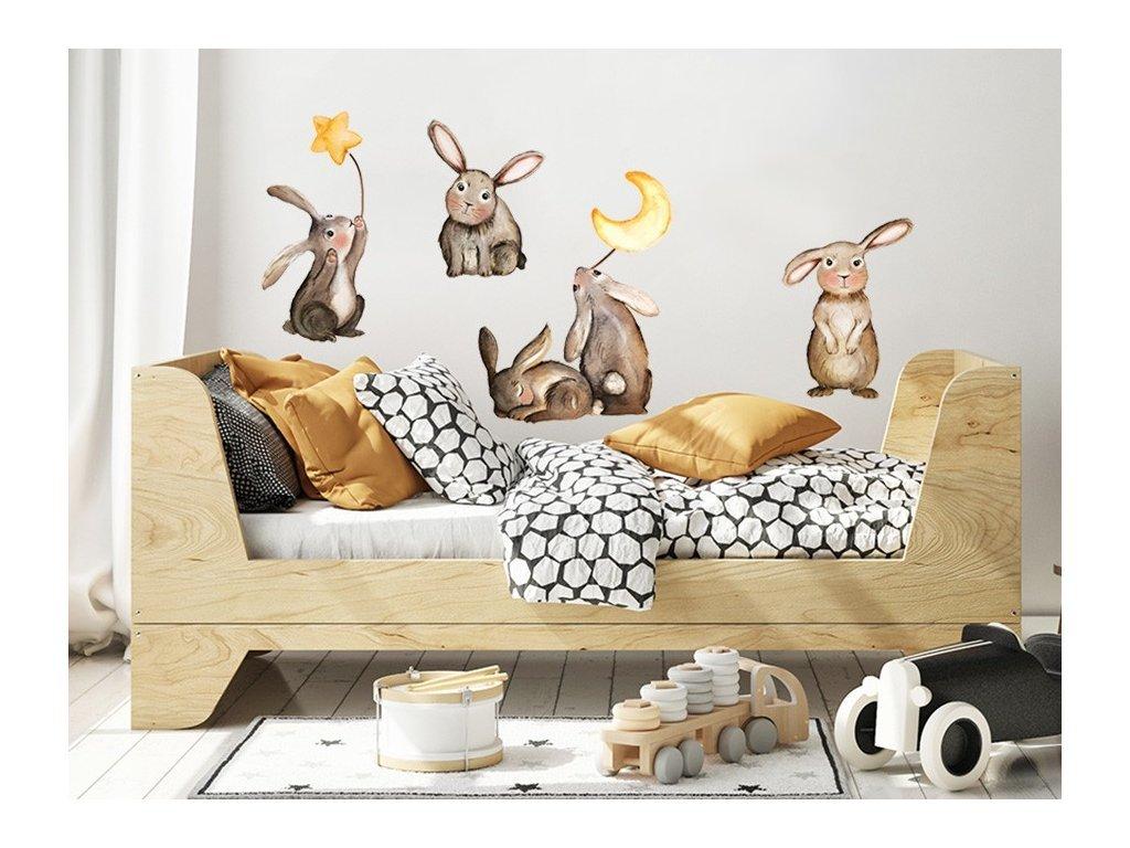 Zajačikovia samolepky na stenu