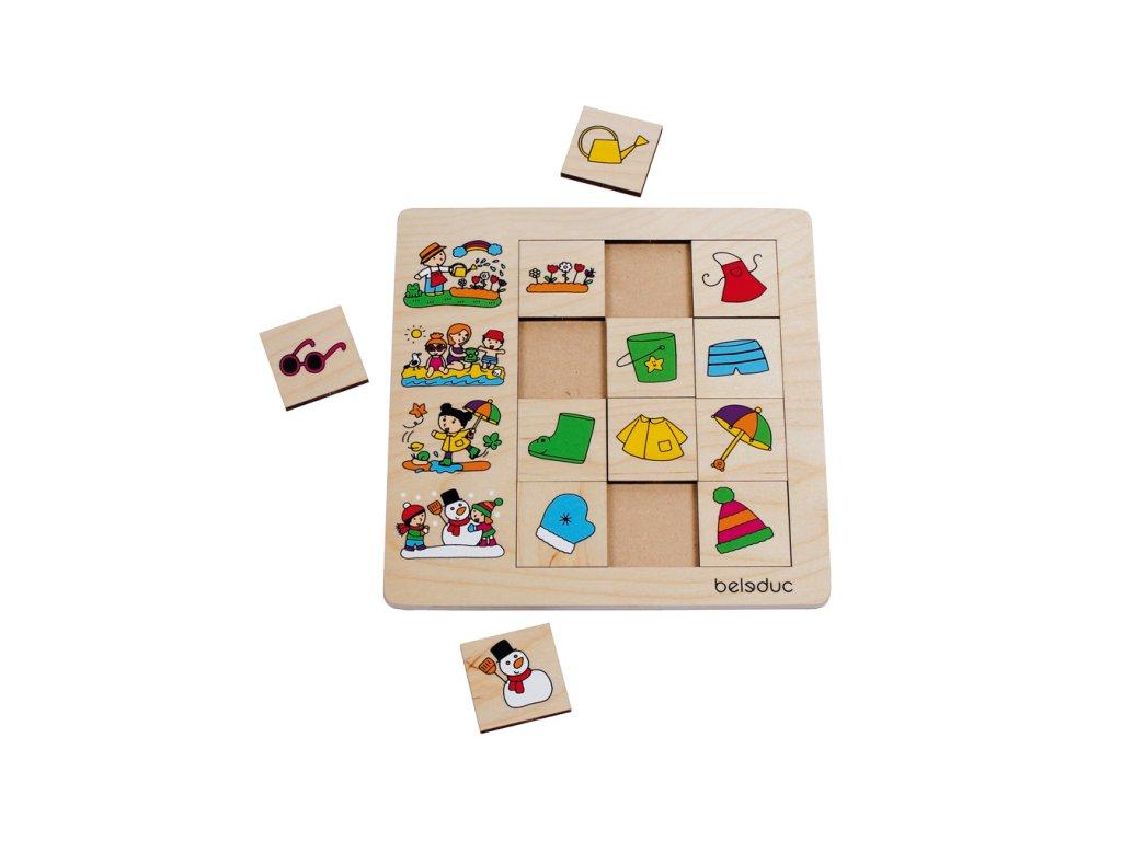 Beleduc Triediace puzzle ROČNÉ OBDOBIE