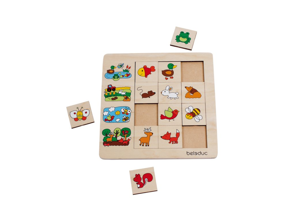 Beleduc Triediace puzzle KTO KDE ŽIJE