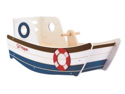 Hape Drevená hojdacia loďka