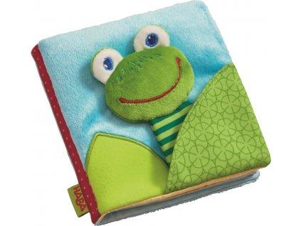 Haba textilné taktilnej knižka ŽABKA
