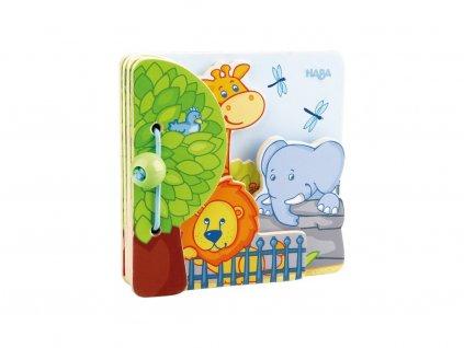 Haba Drevená prvá obrázková knižka ZOO