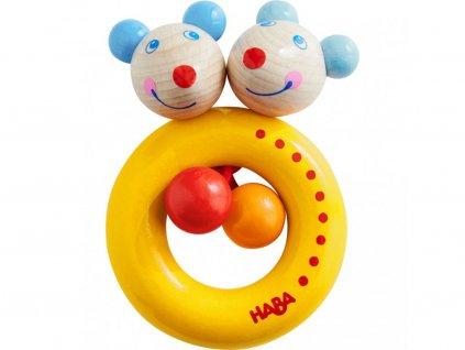 Haba Drevené hračka pre bábätká Myšky