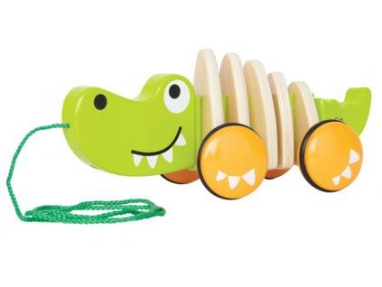 Hape drevený ťahacie krokodíl