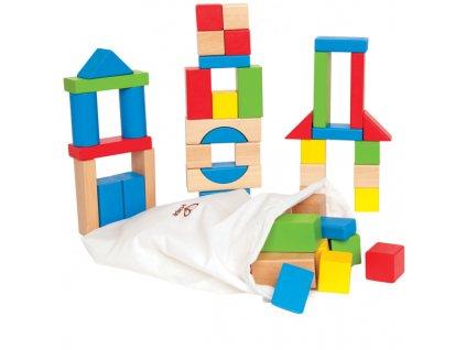 Hape stavebnice - farebné drevené kocky