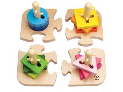 Hape Kreatívne nasadzovacej puzzle