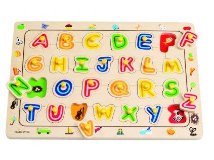 Hape Gombíkové puzzle ABECEDA