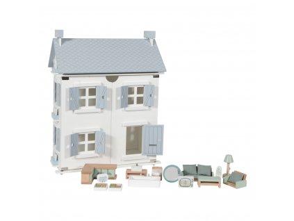 0005512 little dutch doll's house whiteblue 1