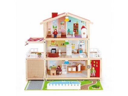 Hape Trojposchodový domček pre bábiky