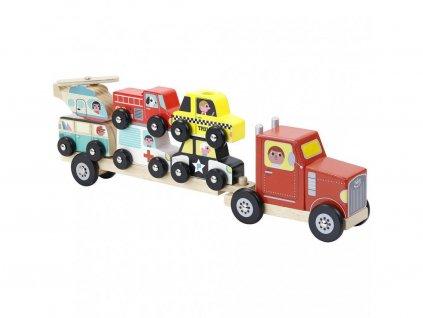 Little Dutch Kamión na prepravu áut