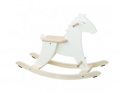 Vilaca Drevený hojdací kôň biely
