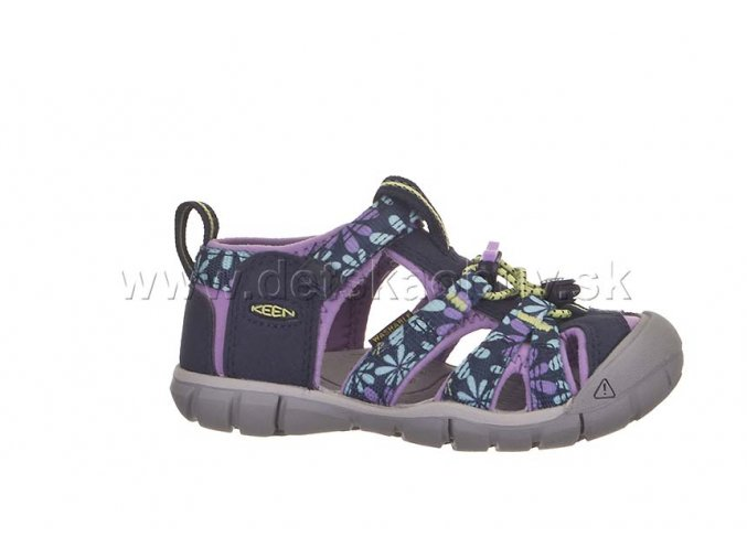 Keen sandále seacamp II cnx black iris/african violet