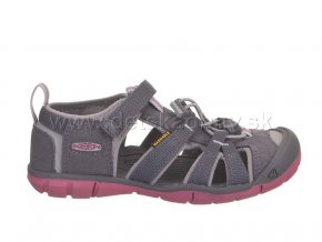 Keen sandále seacamp II cnx steel grey/rapture rose