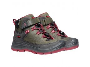 Keen steel grey/red dahlia redwood mid wp