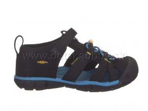 Keen sandále seacamp II cnx very black/keen yellow