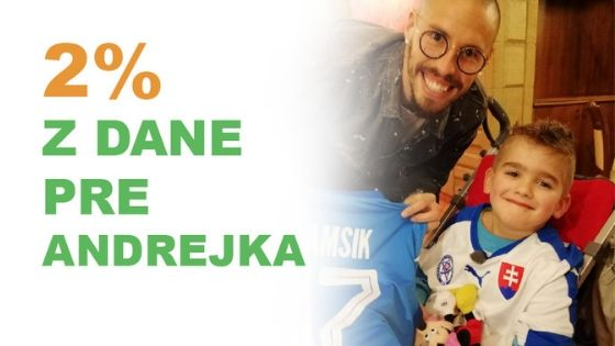 Andrejko z Liesku: Detskej mozgovej obrne dal už poriadne na frak. Pridajte sa k tým, ktorí mu pomáhajú!