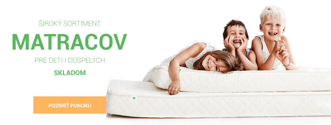 Široký sortiment matracov pre deti i dospelých skladom