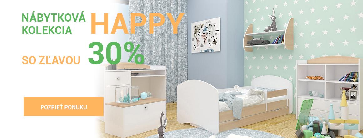 Nábytková kolekcia Happy so zľavou 20%