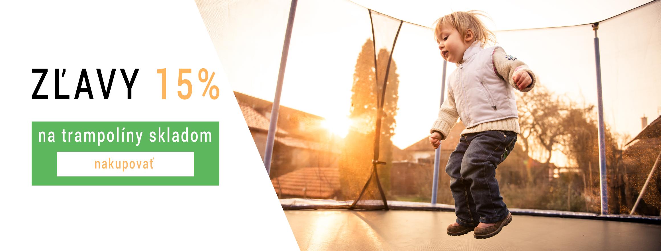 Zľavy 15 % na trampolíny skladom