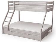 Poschodové postele s rozšíreným spodným lôžkom