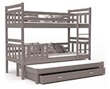 Poschodové postele s prístelkou 184x80