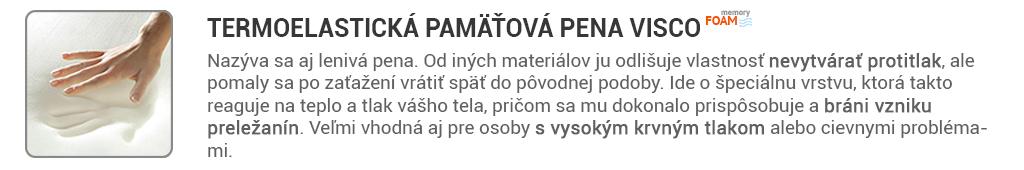 vankuse z pamatovej peny