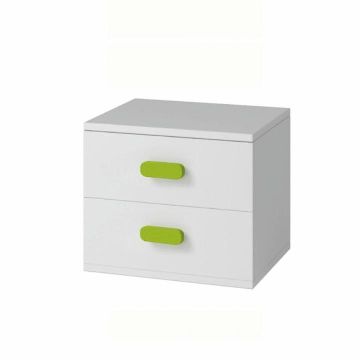 Nočný stolík biely, SVEND