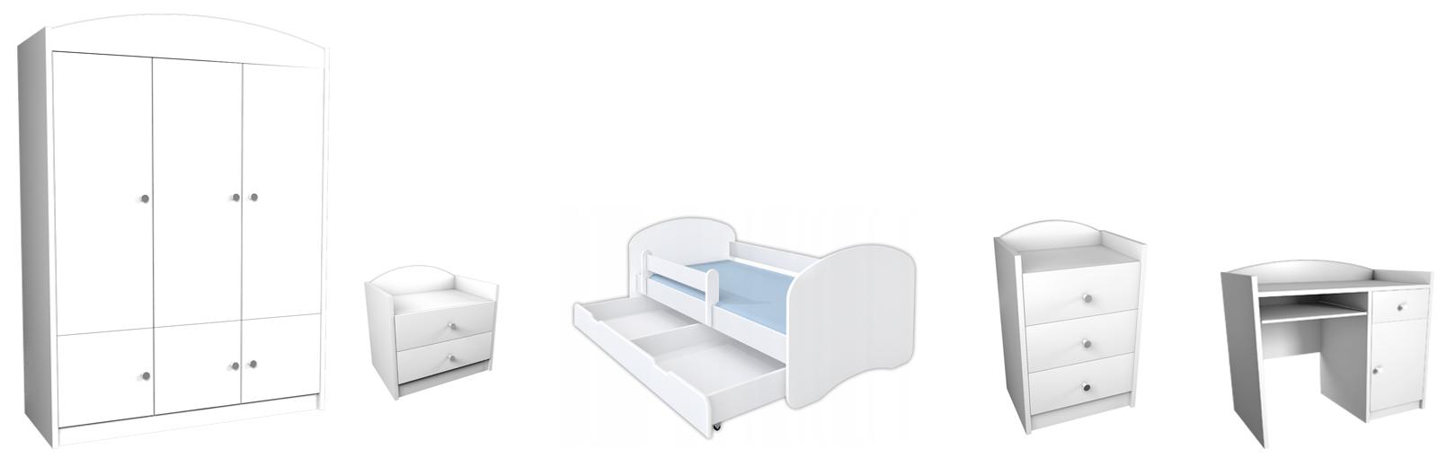 Detská izba Mery XL - biela (180x90)
