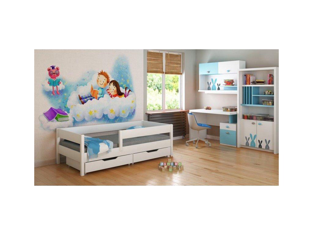 Detská biela posteľ Mix 180x80